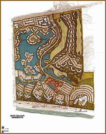 Beach Site Plan, Sandestin, Florida